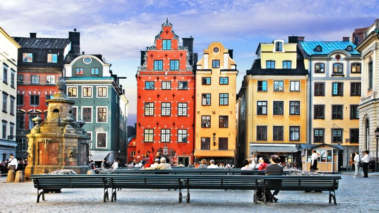Old town of Stockholm - popular touristic attraction. Sweden; Shutterstock ID 485404870